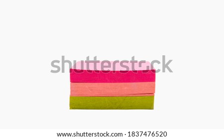 Pack of adhesive note against a white background Stock photo © wavebreak_media