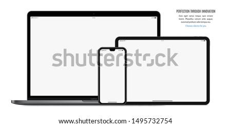 Realistisch boek technologie mobiele scherm Stockfoto © tuulijumala