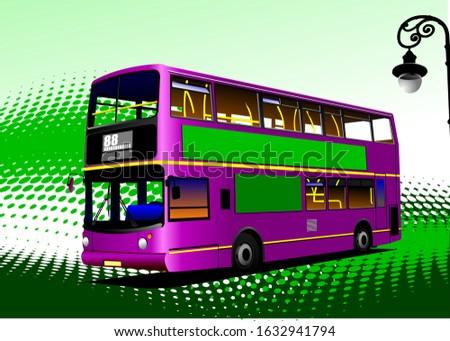 vermelho · cidade · ônibus · treinador · carro · viajar - foto stock © leonido