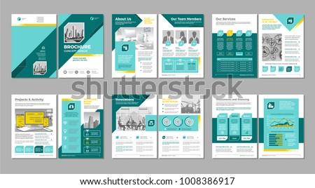 パンフレット テンプレート デザイン eps 10 ビジネス ストックフォト © HelenStock