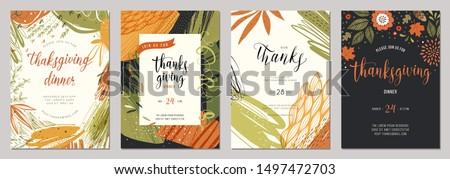 Stock photo: Autumn harvest frame for thanksgiving day