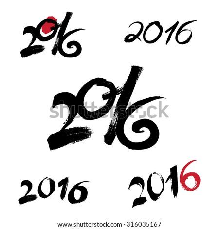 2016 bold white font illustration Stock photo © Wetzkaz