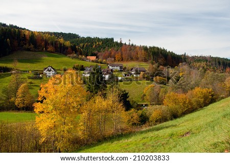 パノラマ 表示 黒 森林 典型的な 村 ストックフォト © g215