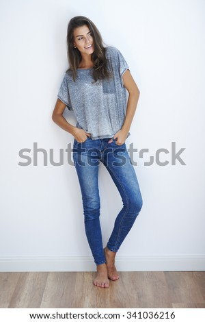 esbelto · mujer · sexy · lencería · alto · posando - foto stock © lithian