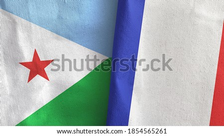 France and Djibouti Flags Stock photo © Istanbul2009