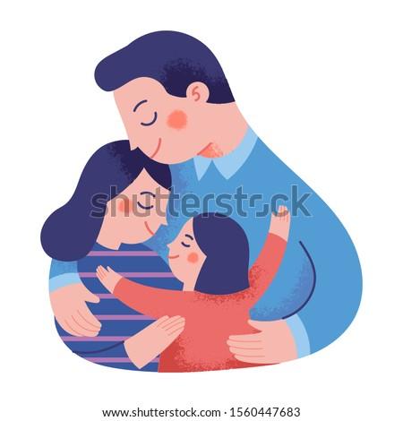 父 · 母親 · 娘 · 赤ちゃん · 夏 · 草原 - ストックフォト © paha_l