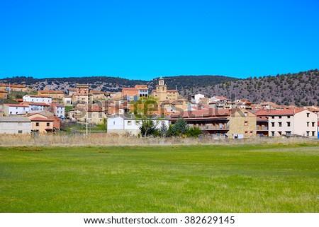 Royuela village Sierra de Albarracin Teruel Spain Stock photo © lunamarina