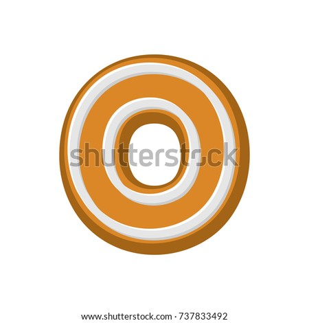 Letter O Gingerbread. Peppermint honey-cake font. Cookies alphab Stock photo © MaryValery