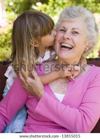 Neta avó sessão convés digital comprimido Foto stock © wavebreak_media