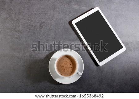 Directamente tiro digital tableta taza de café Foto stock © wavebreak_media