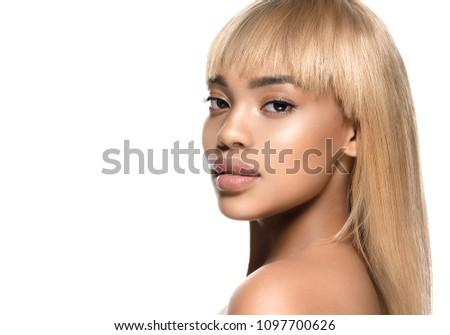 Foto stock: Jovem · beleza · africano · americano · mulher · moda · compensar