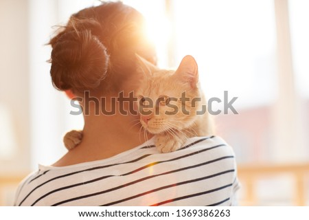 Back view portrait of a beautiful relaxed woman Stock photo © vapi