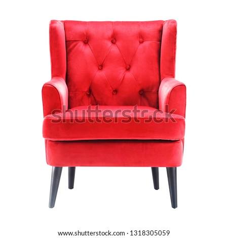 lusso · poltrona · reale · rosso · interni · modello - foto d'archivio © popaukropa