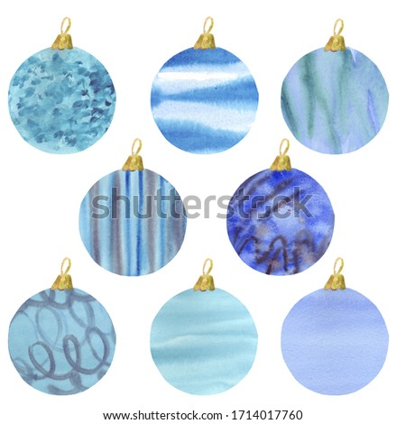 Watercolor violet Christmas ball isolated on a white background. Stock photo © Natalia_1947