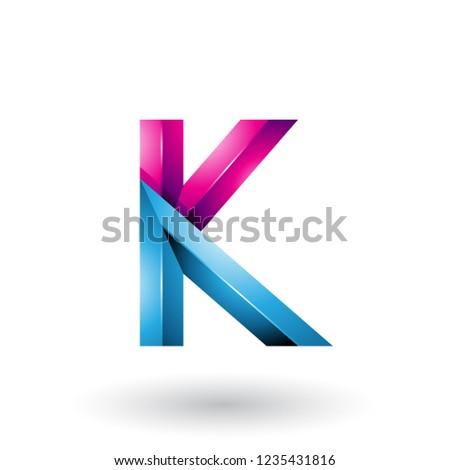 Bleu magenta 3D géométrique lettre Photo stock © cidepix