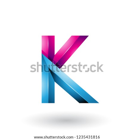 Blauw · glanzend · meetkundig · brief · vector · illustratie - stockfoto © cidepix