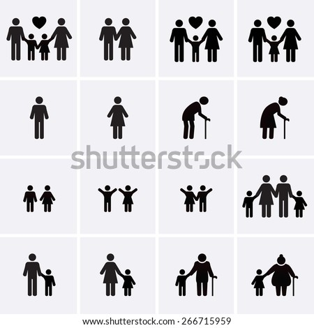 Couple of young people. Man and woman hold hands. Vector illustration in a flat style. Cartoon Man a stock photo © bonnie_cocos