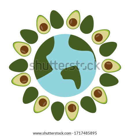 Earth Day Concept Vector. Whole Earth Sphere. Isolated Flat Cartoon Illustration Stock photo © pikepicture