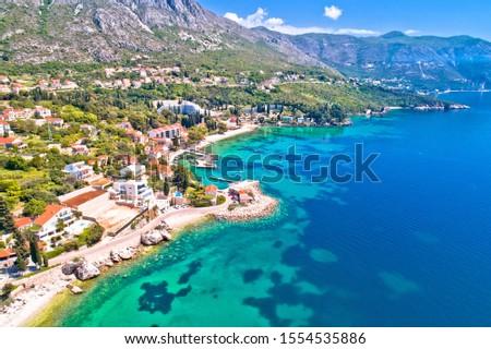 Srebreno coastline and waterfront view, tourist archipelago of D Stock photo © xbrchx