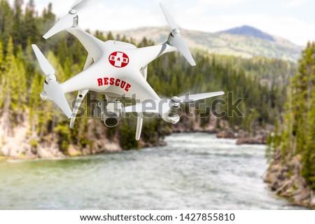 Búsqueda rescate aeronaves vuelo montana Foto stock © feverpitch