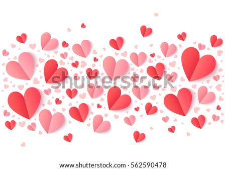 Kleurrijk gevouwen papier harten vector illustratie Stockfoto © cidepix
