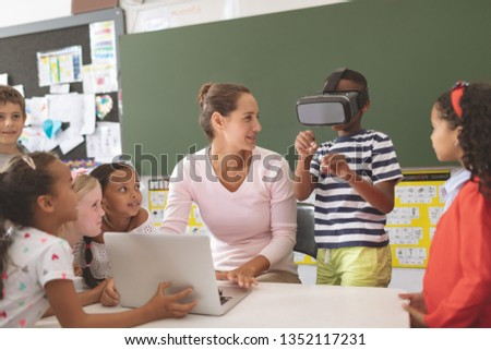 мнение кавказский школьница виртуальный реальность Сток-фото © wavebreak_media