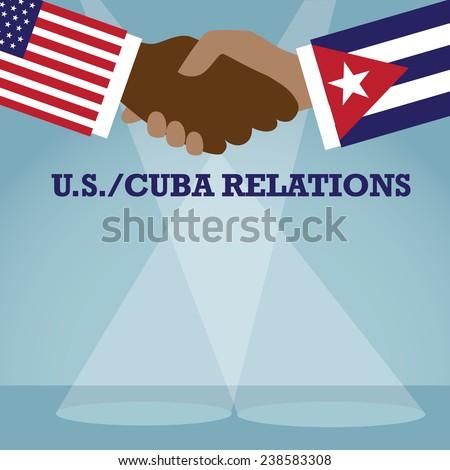 флагами Куба Соединенные Штаты Америки копия пространства бизнеса Сток-фото © Zerbor