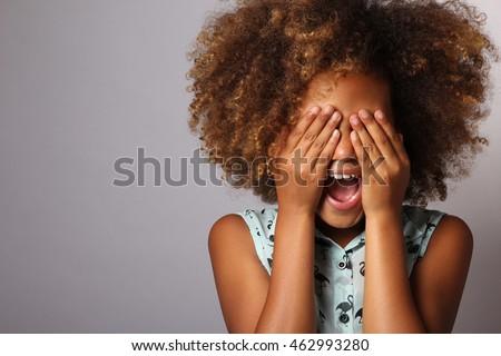 愛らしい アフリカ 女の子 美しい ヘアスタイル 孤立した ストックフォト © Lopolo