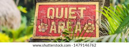 Felirat csendes sarok kert szalag hosszú Stock fotó © galitskaya