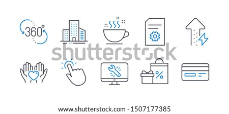 computer simulation of building icon vector outline illustration Stock photo © pikepicture