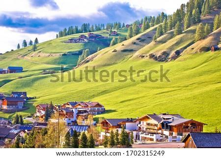 Resmedilmeye değer köy alpine manzara görmek alpler Stok fotoğraf © xbrchx