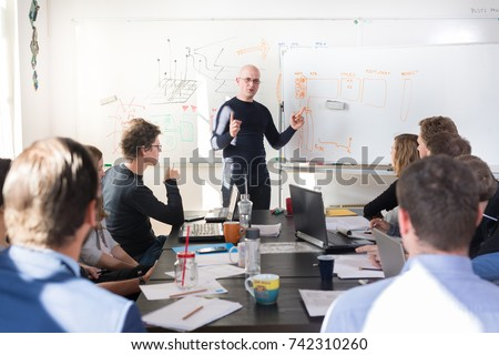 Brainstorming in a startup company about the new business plan Stock photo © Kzenon