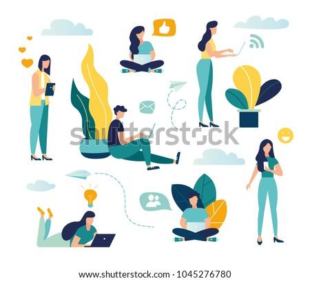 Online chatting app vector concept metaphor. Stock photo © RAStudio