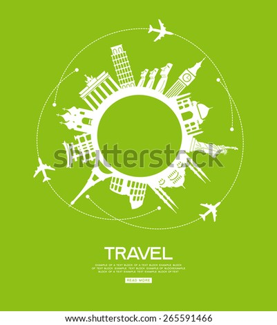 Abstract Travel Concept Around the World with Famous Internation Stock photo © ShustrikS