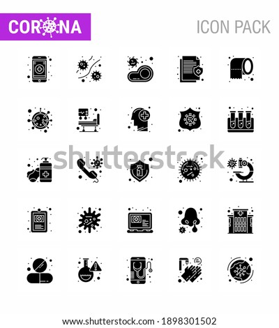 Microbe related vector glyph icon. Stock photo © smoki
