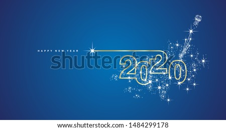 Feliz ano novo texto projeto vetor logotipo ilustração Foto stock © sanyal