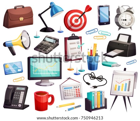 Office desk with briefcase and business card, finance and economy Stock photo © Anneleven