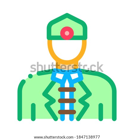 malaysian men icon vector outline illustration Stock photo © pikepicture