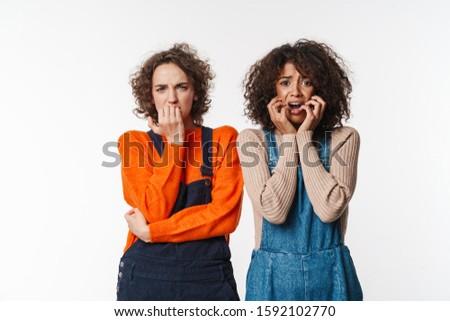 Portret bange multinationaal poseren naar camera Stockfoto © deandrobot