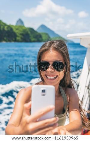 Crociera Caraibi viaggio turistica asian ragazza Foto d'archivio © Maridav