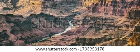 Grand Canyon panorámakép szalag Colorado folyó naplemente Stock fotó © Maridav