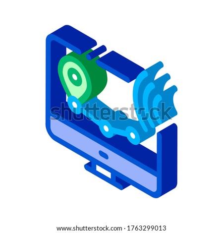 Wifi sans fil voix contrôle isométrique Photo stock © pikepicture