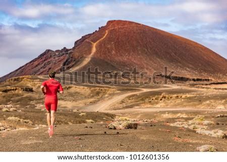 Nyom futó férfi atléta fut természet Stock fotó © Maridav