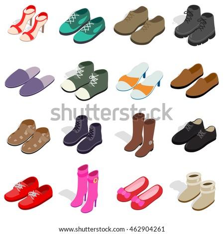 Boot schoen isometrische icon vector teken Stockfoto © pikepicture
