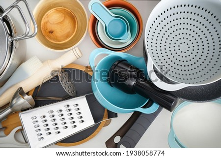Kitchen drawer with flatware close up view  Stock photo © amok