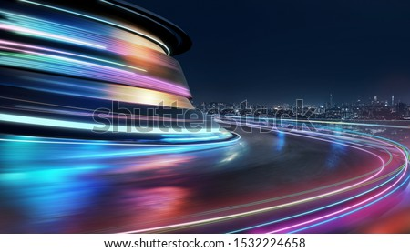 Person with moving light on street Stock photo © Paha_L