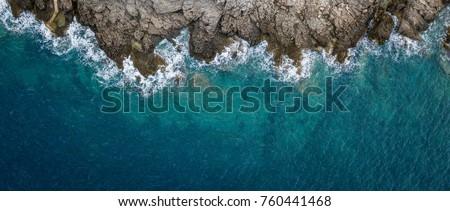 Uçurum deniz güneşli yaz gün plaj Stok fotoğraf © pekour