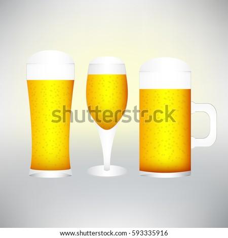 Diverso occhiali freddo birra isolato Foto d'archivio © ozaiachin