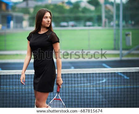 Sexy female body in sports outfit Stock photo © Nobilior