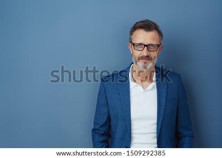 肖像 成人 男 立って 小さな 若者 ストックフォト © luckyraccoon